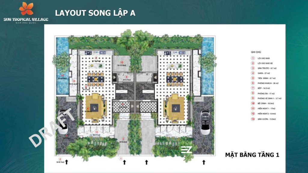 Layout SUn Tropical Village Song Lập Tầng 3